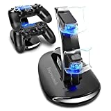 Expresstech @ Dualshock Ladegerät Halterung Stand Ständer Dockingstation Ladestation Mit LED Indicator Für Sony Playstation 4 PS4 Slim PS4 Pro Dualshock Controller -