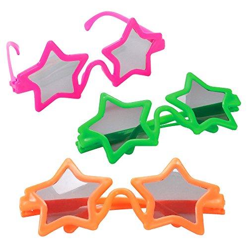 - 6 x Party Sonnenbrillen für Kinder ┃ Stars ┃ Kindergeburtstag ┃ Mitgebsel ┃ 6 Stück (Halloween-katze Cupcake-ideen)