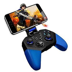 Mobiler Gaming-Controller, KINGEAR Wireless Gamepad kompatibel für Android und iOS Game