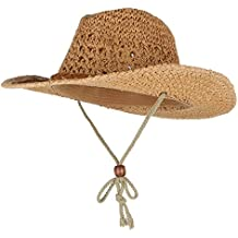 GEMVIE Sombrero de Paja Niños Cowboy Jazz con Cuerda de Viento Ala Ancha  Circunferencia 50cm 838c3ce9bf9
