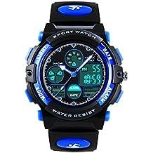 Kids Digital analógico relojes para niños - Childrens deportes al aire libre reloj con alarma/