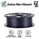 SunTop - Filamento PLA de fibra de carbono para impresora 3D, 1,75 mm, cumple con Rohs, carrete de 1...
