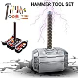lembrd Reparatur Kit Werkzeugset Marvel Thor Hammerwerkzeug-Set, Werkzeugsatz Werkzeugset Haushalt Werkzeugkoffer Set Langlebiger Werkzeugsatz 11Stück