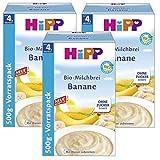 Hipp Bio-Milchbrei Banane 500g, 3er Pack (3 x 500g)