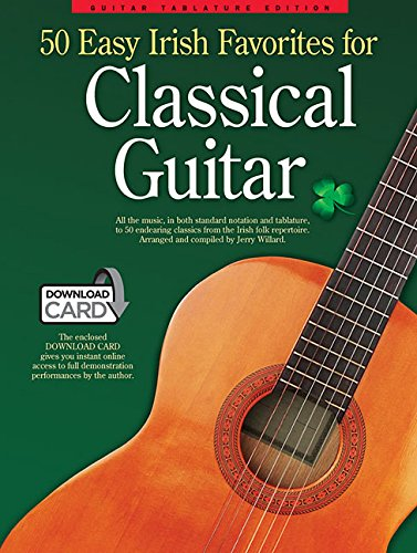 50 easy irish favourites for classical guitar:  guitar tablature édition (book/audio download) +télé