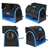 AAPP Shop Tragbare Auto-Klimaanlagen-Fahrzeug-LKW-Kühlende Luft-Ventilator-Justierbare Geschwindigkeit Leiser Kühler Mini-Klimaanlage für Auto, 12V