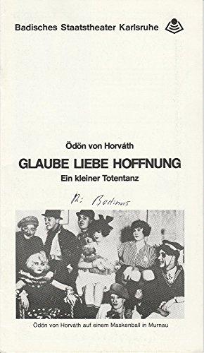Programmheft Glaube Liebe Hoffnung. Spielzeit 1983 / 84 Schauspiel Heft Nr. 1