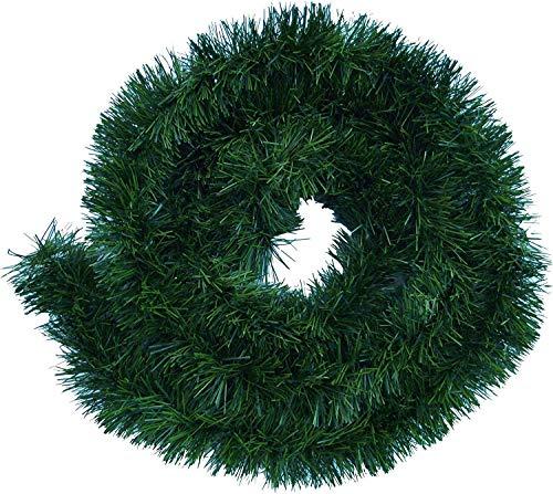 Handel24NET Excellente 10m künstliche Dekogirlande im Tannengrün - flexibel einsetzbar im Innen- und Aussenbereich - Diese Tannengirlande erfreut die ganze Familie10