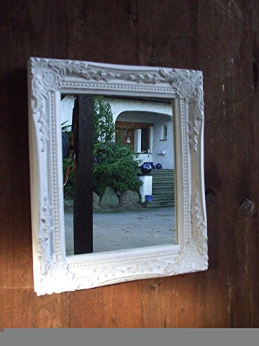 Traumschöner Wand - Spiegel, Barockrahmen, 32 x 27 cm, weiss