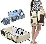 myun Portable Krippe Multifunktions-Bett Im Bett Faltbare Abnehmbare Neugeborenen Tragbaren Babybett Bionic Bett,Beige