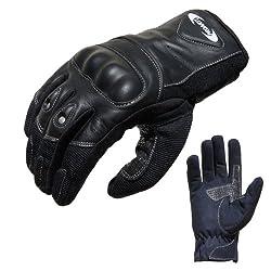 PROANTI Motorradhandschuhe Sommer Motorrad Handschuhe (Gr. XS - XXL, schwarz, kurz) - XL