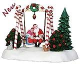 Lemax 24479 - Santa Swing - Weihnachtsmann schaukelt - Animiertes Tischstück - Santas Wonderland - Dekoration/Weihnachtsdeko - Weihnachtswelt/Weihnachtsdorf