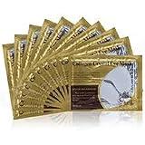 Palestren Lot de 20patchs gel anti-âge/anti-rides pour le contour des yeux Hydratant visage Atténue les cernes Blanc