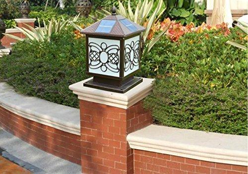 Luci Da Giardino Solari Vendita : Zll villa pilastro lampada solare luci luci da parete luci lampada