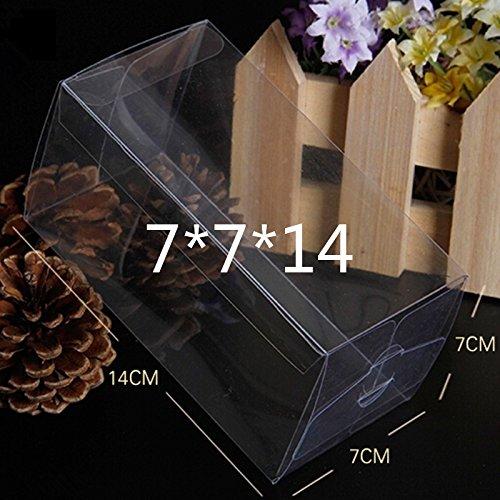 50 pz scatola pvc trasparente varia misura portaconfetti bomboniera confezione regalo (7*7*14cm)