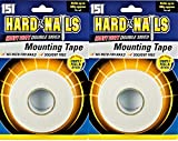 2 x Hard As Nails Montage-Klebeband Heavy Duty doppelseitig 50 kg pro Rolle 24 mm x 5 m