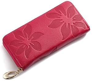 Brilliance Co Cuir Femme Porte Monnaie, Portefeuille, Rose Rouge