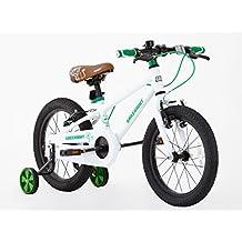 Greenway - Bicicleta con ruedas de apoyo, para niños, marco de acero de 40,6 cm, de 3a6años