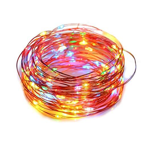 LED Lichterkette, 100 LED 10M Kupferdraht-Lichter, USB-Schnittstelle, Wasserdichtes Ambientebeleuchtung für Flasche DIY, Party, Dekor, Weihnachten, Halloween, Hochzeit