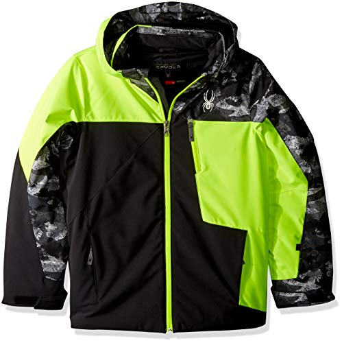 Jacke, Black/Bryte Yellow/Camo Distress, 152 ()