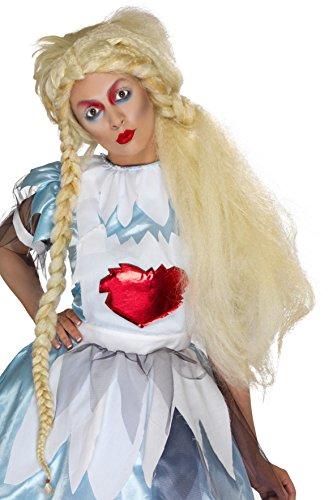 Smiffy's 29786 - Alice in Blunderland Perücke Blond Lang mit Zöpfen (Beliebte Teen Halloween Kostüme)