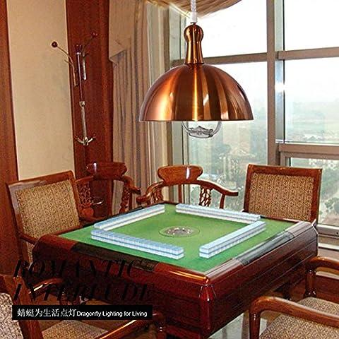 FAN4ZAME Moderne Einfache Zeichnung Kronleuchter Mahjong Anheben Lampe Einem Kopf