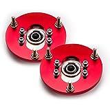 maXpeedingrods Rojo Coiloves para BMW 3 Series E46 M3 316 98-05 Top Amortiguadores Camber Plate