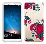 Huawei Mate 10 Lite Hülle Silikon , ivencase Transparent Handyhülle Schutzhülle TPU Clear Case Backcover Bumper Löschen Slimcase Etui Tasche für Huawei Mate 10 Lite