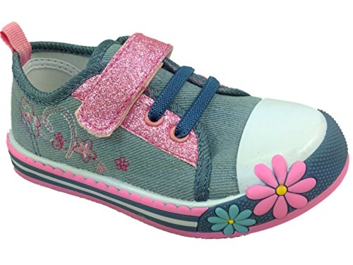 Foster Footwear , Mädchen Sneaker Pink rose 36.5 Sparkle Light Blue