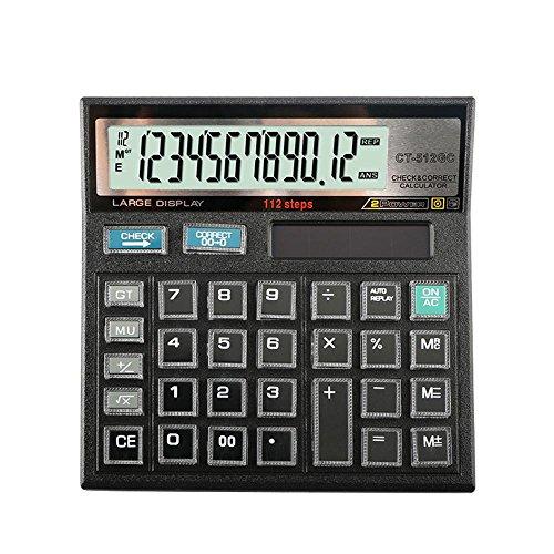 Dixinla Hesap makinesi 12-Bit-Anzeige Solar Crystal Tastatur Doppelstromversorgung Office Business