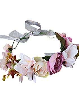 Cereoth Guirnalda de flores Diadema de guirnalda de corona floral para boda
