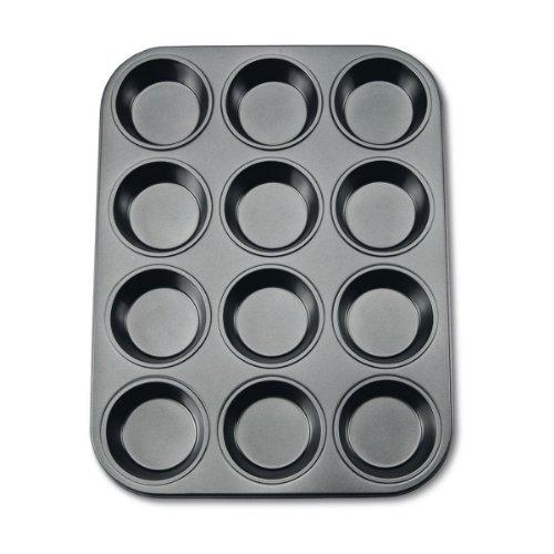 Städter 488069 Muffinform in Geschenkverpackung mit Rezept 12 Formen, Antihaft-Beschichtung, ø 7.0 cm / H 3.3 cm