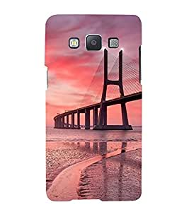 Fuson Designer Back Case Cover for Samsung Galaxy A3 (2015) :: Samsung Galaxy A3 Duos (2015) :: Samsung Galaxy A3 A300F A300Fu A300F/Ds A300G/Ds A300H/Ds A300M/Ds (Bridge River Bridge Evening view Of Bridge Sea Bridge Sunset)