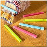 Distinct® 6PCS de comida ganchos de la bolsa Snack-sellador Clamp