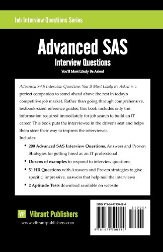 Advanced SAS: Interview Questions You'll Most Likely Be Asked