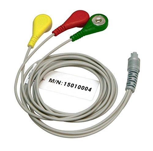 3-Kanal-EKG-Kabel für Heal Force Prinz 80B, 80A, 180B (3-Draht-EKG-Kabel-Anschluss für Heal Force tragbare EKG- Sensoren) von Home Care Wholesale - Führen Ekg-kabel