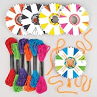 Make Your Own Braided Friendship Bracelets - Creative Craft Kits for Kids to Design Make & Give as Gift (Pack of 4)