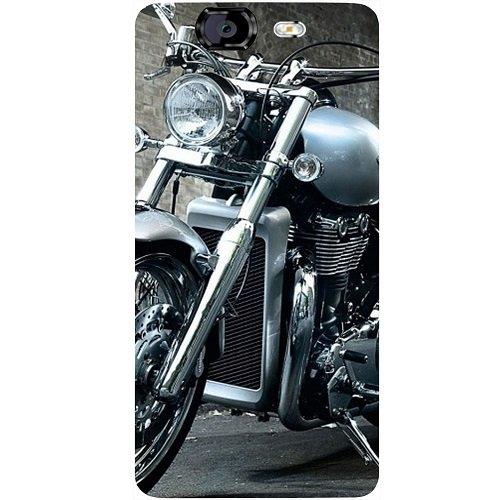 Casotec Motorcycle Design Hard Back Case Cover for Micromax Canvas Knight A350