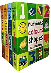 First 100 Collection 4 Books Set (First 100 Soft to Touch Board Books) (First 100 Words, Numbers Colours Shapes, First 100 Animals, First 100 Trucks)