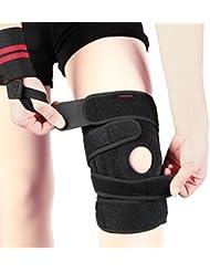 Genouillère Rotulienne Sport Protection Choc Pression Douleur Soulagée Elastique Réglable pour Homme Femme Course Basketball Volleyball Escalade - 3 Types pour chosir