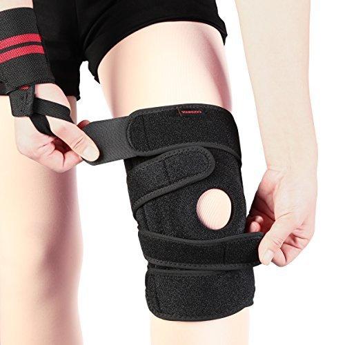 Youngdo Kniebandage / Sport Knieschoner / atmungsaktiver Knieschützer, wirkt schmerzlindernd bei Gelenkkrankheiten wie Arthrose, mehr Sicherheit und Komfort beim Laufen und Joggen, geeignet für Kinder, Damen und Herren