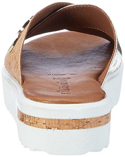 Tamaris Damen 27212 Offene Sandalen mit Keilabsatz Silber (GOLD/CORK 994)