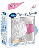 Calypso 31200880 Beauty Brush (Elektrische Körper- und Gesichtsreinigungsbürste, mit 4 austauschbaren Aufsätzen), weiß-pink