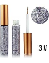 ROPALIA 10 Couleurs Eyeliner Liquide Glitter Shimmer Impermeable et Maquillage Eyeshadow Liquid