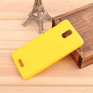 CZap Tough Case Hard Matte Rubberized Back Cover for Lenovo S660 - Yellow