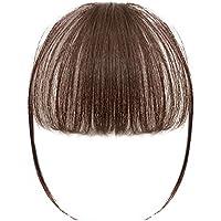 Vococal -Ragazze Falso Capelli Lisci Frangia Pezzo Bang Capelli Completa Bangs Capelli Pezzi Clip in Top Hair Extensions Parrucche Accessori Marrone Chiaro