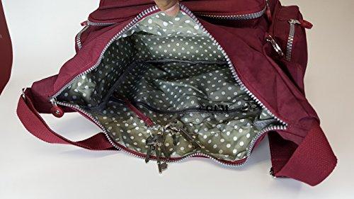 GFM Fashion, Borsa a tracolla donna Small Style 3 - Dark Purple (9048GHJMN)
