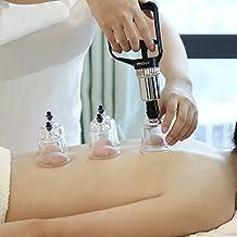 Terapia de Ahuecamiento, Hylogy Masaje Sistema de Terapia 17 Tazas de Vacío Acupuntura Conjunto para Aliviar el Dolor Muscular, Relajación, Tratamiento Anti-edad y Celulitis