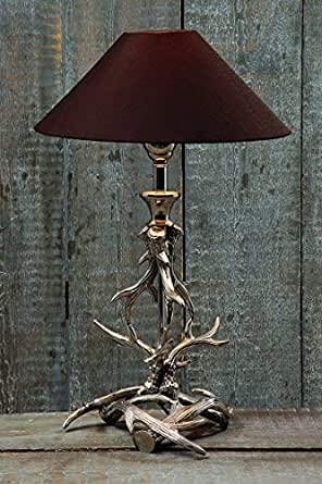 lampe geweih h54cm material aluminium. Black Bedroom Furniture Sets. Home Design Ideas