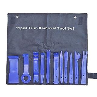 JZK 11 x Auto Radio Audio Stereo Demontage Hebelwerkzeug Set Zierleistenkeile Lösewerkzeug Werkzeug Kit für Auto Innen Armaturenbrett Türverkleidung und Platten, Blau